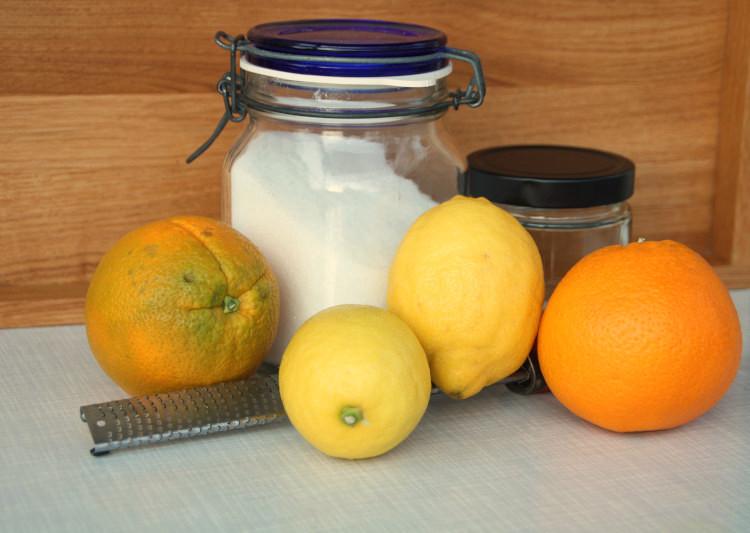Zutaten Zitronenzucker