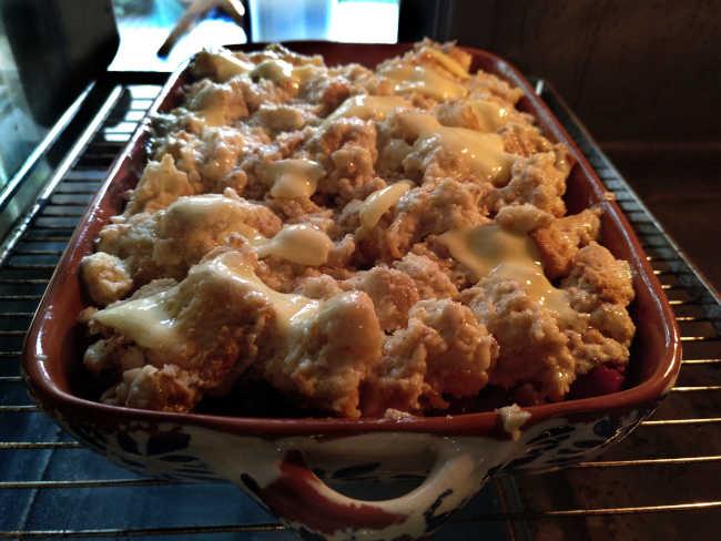 Kirschenmichel bäckt im Ofen